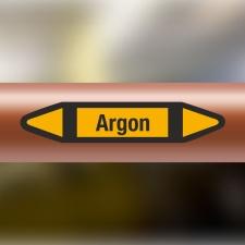 Rohrleitungskennzeichnung Aufkleber Etikett Argon DIN...