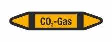 Rohrleitungskennzeichnung Aufkleber CO2 Gas DIN 2403...