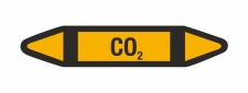 Rohrleitungskennzeichnung Aufkleber Etikett CO2 DIN 2403...