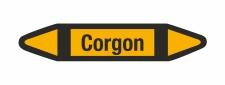 Rohrleitungskennzeichnung Aufkleber Corgon DIN 2403...