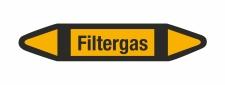 Rohrleitungskennzeichnung Aufkleber Filtergas DIN 2403...