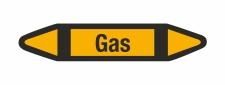 Rohrleitungskennzeichnung Aufkleber Etikett Gas DIN 2403...