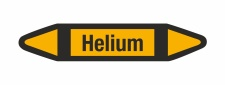 Rohrleitungskennzeichnung Aufkleber Helium DIN 2403...