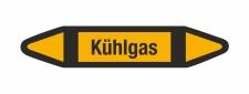 Rohrleitungskennzeichnung Aufkleber Kühlgas DIN 2403...