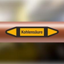 Rohrleitungskennzeichnung Aufkleber Kohlensäure DIN...