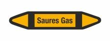 Rohrleitungskennzeichnung Aufkleber Saures Gas DIN 2403...