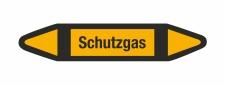 Rohrleitungskennzeichnung Aufkleber Schutzgas DIN 2403...