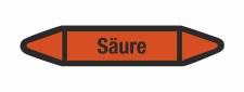 Rohrleitungskennzeichnung Aufkleber Etikett Säure...