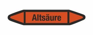 Rohrleitungskennzeichnung Aufkleber Etikett Altsäure DIN 2403 Säuren