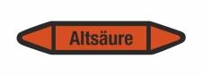 Rohrleitungskennzeichnung Aufkleber Etikett Altsäure...
