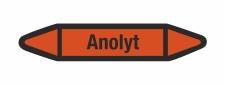 Rohrleitungskennzeichnung Aufkleber Etikett Anolyt DIN 2403 Säuren