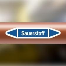 Rohrleitungskennzeichnung Aufkleber Etikett Sauerstoff...