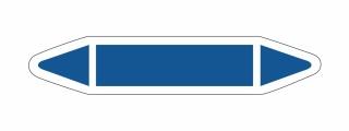 Rohrleitungskennzeichnung Aufkleber Etikett Blanko DIN 2403 Sauerstoff