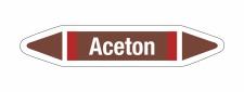 Rohrleitungskennzeichnung Aufkleber Aceton DIN 2403...
