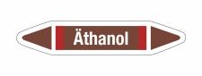 Rohrleitungskennzeichnung Aufkleber Äthanol DIN 2403...