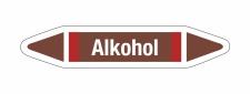Rohrleitungskennzeichnung Aufkleber Alkohol DIN 2403...