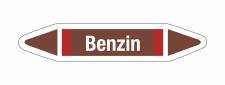 Rohrleitungskennzeichnung Aufkleber Benzin DIN 2403...