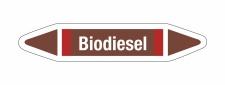 Rohrleitungskennzeichnung Aufkleber Biodiesel DIN 2403...
