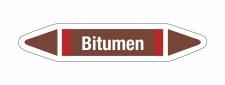 Rohrleitungskennzeichnung Aufkleber Bitumen DIN 2403...