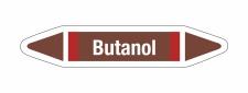 Rohrleitungskennzeichnung Aufkleber Butanol DIN 2403...