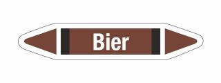 Rohrleitungskennzeichnung Aufkleber Bier DIN 2403 Nichtbrennbare Flüssigkeiten
