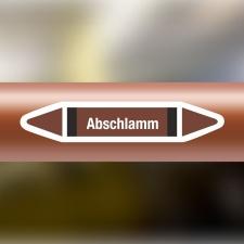 Rohrleitungskennzeichnung Aufkleber Etikett Abschlamm DIN...