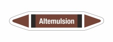Rohrleitungskennzeichnung Aufkleber Etikett Altemulsion...