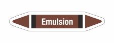 Rohrleitungskennzeichnung Aufkleber Etikett Emulsion DIN...
