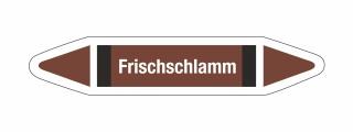 Rohrleitungskennzeichnung Aufkleber Etikett Frischschlamm DIN 2403