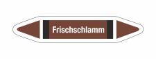 Rohrleitungskennzeichnung Aufkleber Etikett Frischschlamm...