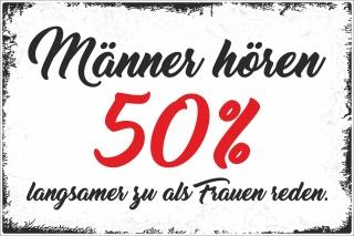 Holzschild Retro Vintage Geburtstag Manner Horen 50 Prozent Spruch