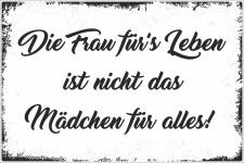 Holzschild Retro Vintage Geburtstag Die Frau für das...