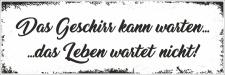 Holzschild Retro Vintage Geburtstag Das Geschirr kann...