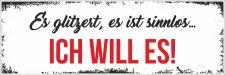 Holzschild Retro Vintage Geburtstag Es glitzert, es ist...