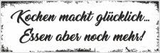 Holzschild Retro Vintage Geburtstag Kochen macht...