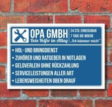 Schild Opa GmbH Geschenk Geburtstag Vatertag...