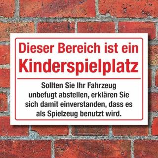 Schild Kinderspielplatz Hinweisschild Spielzeug 3 mm Alu-Verbund