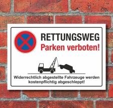 Schild Parkverbot Halteverbot Rettungsweg Parken verboten...