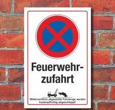 Schild Halteverbot Parkverbot Feuerwehrzufahrt...