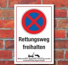 Schild Halteverbot Parkverbot Rettungsweg freihalten 3 mm...