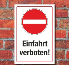 Schild Halteverbot Parkverbot Durchfahrt Einfahrt...