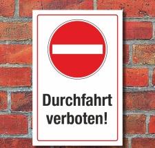 Schild Halteverbot Parkverbot Einfahrt Durchfahrt...