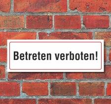 Schild Zutritt Betreten verboten Hinweisschild 300 x 100...