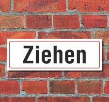 Schild Ziehen Türschild Hinweisschild 300 x 100 mm...