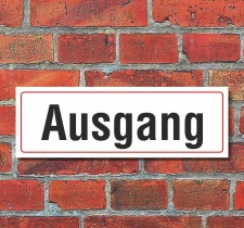 Schild Ausgang Türschild Hinweisschild 300 x 100 mm...