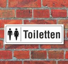 Schild Toiletten WC Klo Türschild Hinweisschild 300...