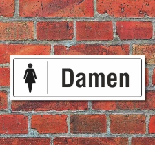 Schild Toiletten Toilette WC Klo Türschild Damen 300...