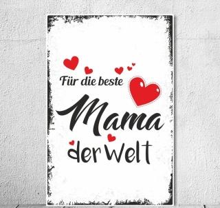 Vintage Shabby Holzschild Beste Mama Der Welt Muttertag Geburtstag