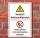 Schild Gefahrstoffbereich Feuer Licht Rauchen verboten 3 mm Alu-Verbund 300 x 200 mm