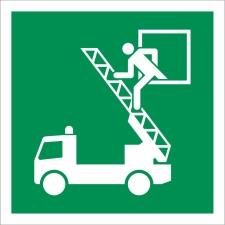 15. Rettungsausstieg - Schild 200 x 200 mm